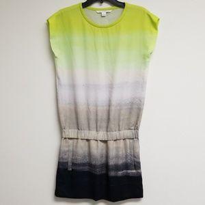 Diane Von Furstenberg Printed Shift Dress Size 2